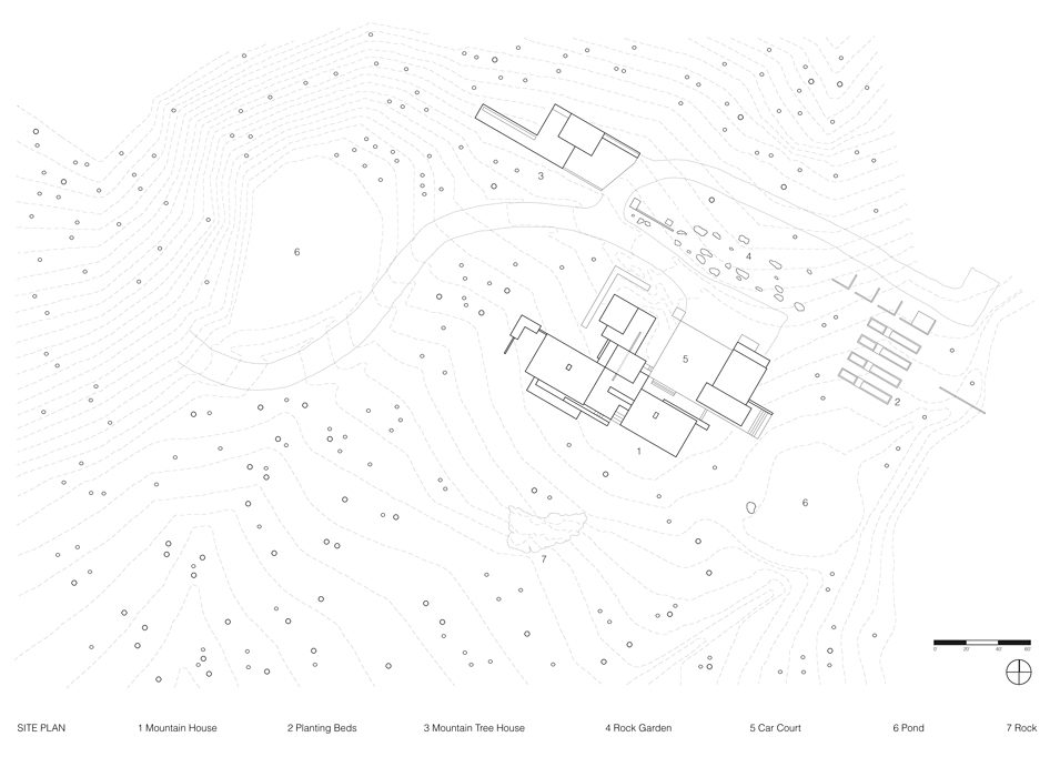 Architectural Site Plan Trees Mtn Tree Site Plan